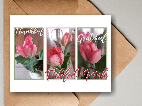 Tickled Pink Tulips Note Cards