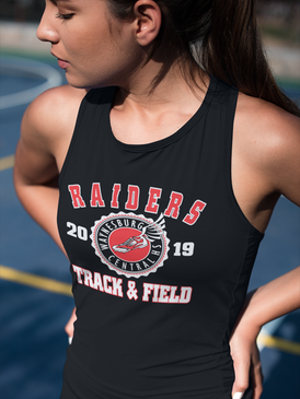 Track & Field t-shirt design template download