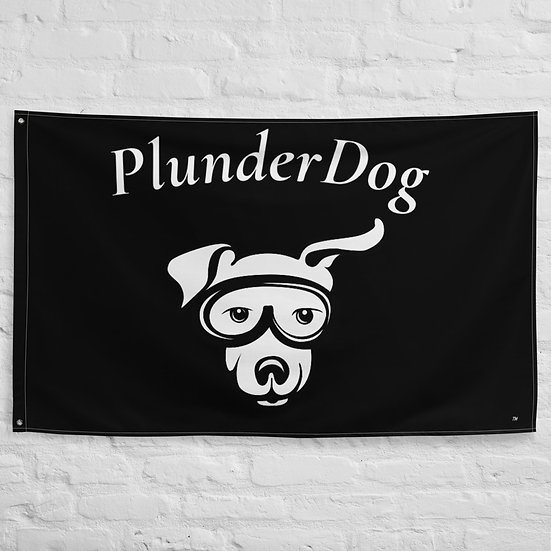PlunderDog Pirate Flag