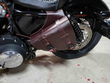 Sportster 1200 PlunderDog Saddlebags, Grip and Lever Covers burgundy