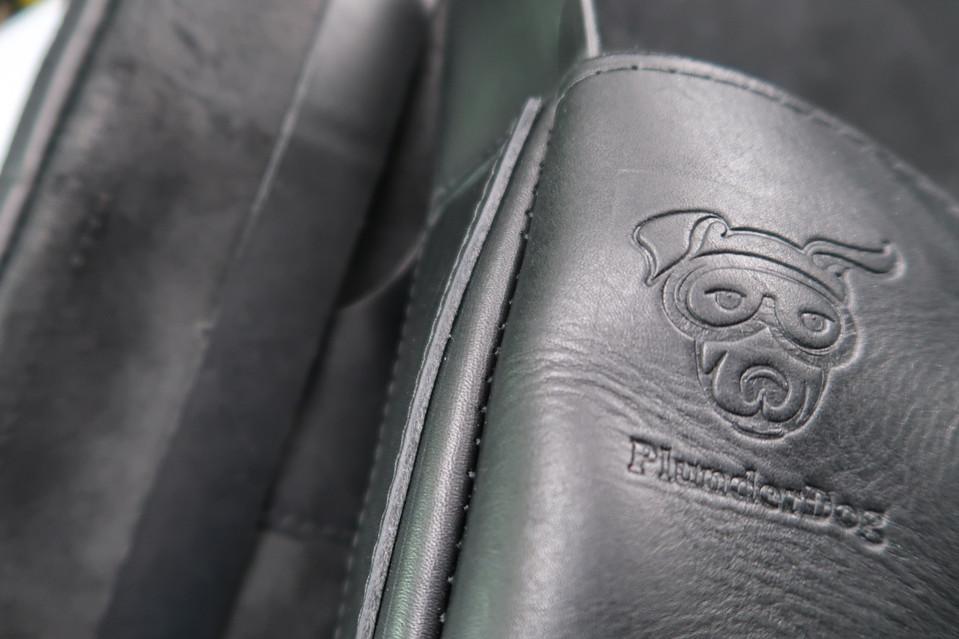 Plunderdog leather saddlebags