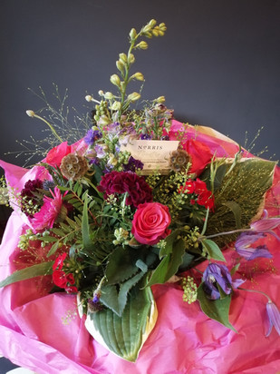 Vivid pink bouquet