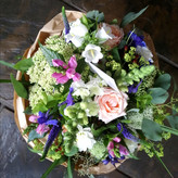 Pink and blue pastel bouquet