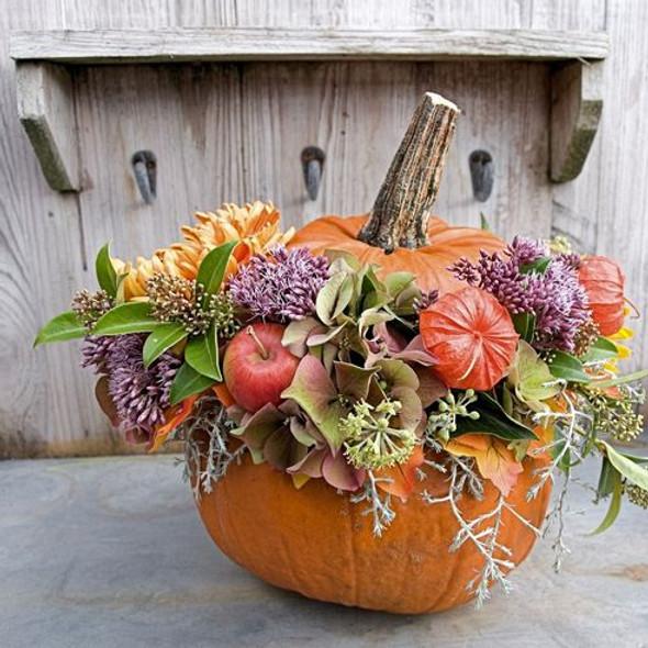 Pumpkin Flower Arrangement Class (Morning)