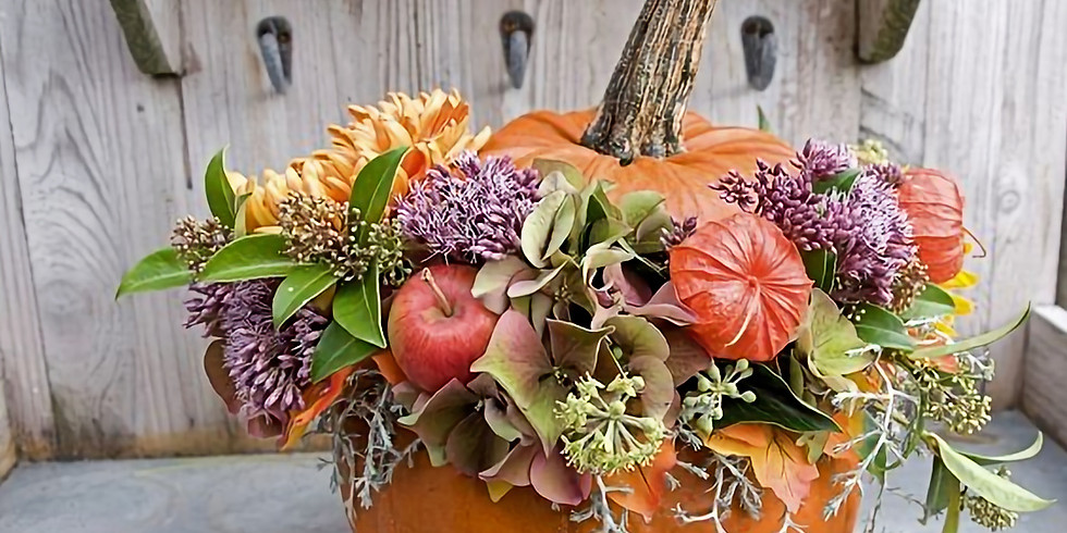Pumpkin Flower Arrangement Workshop - £38