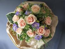 Anniversary pastel rose bouquet