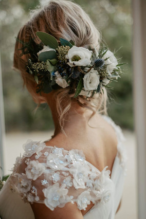 Wedding flowers - floral hair comb