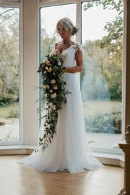 Wedding flowers - Cascade bouquet
