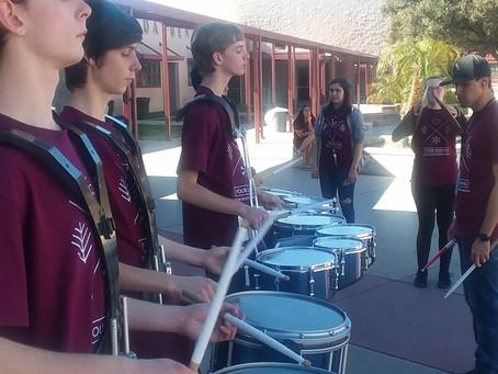 OCMA Drumline - pounding out notes!