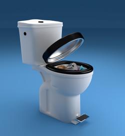 Toilettes poubelles