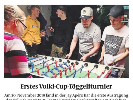 Zeitungsbericht zum ersten Volki-Cup