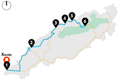 Tobago Caribbean Coast Tour Map from Pigeon Point to Rain Forest