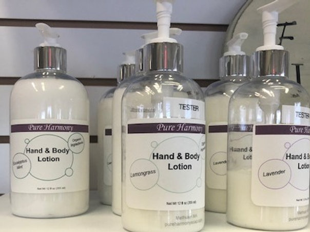 12 Oz Organic Hand and Body Lotion