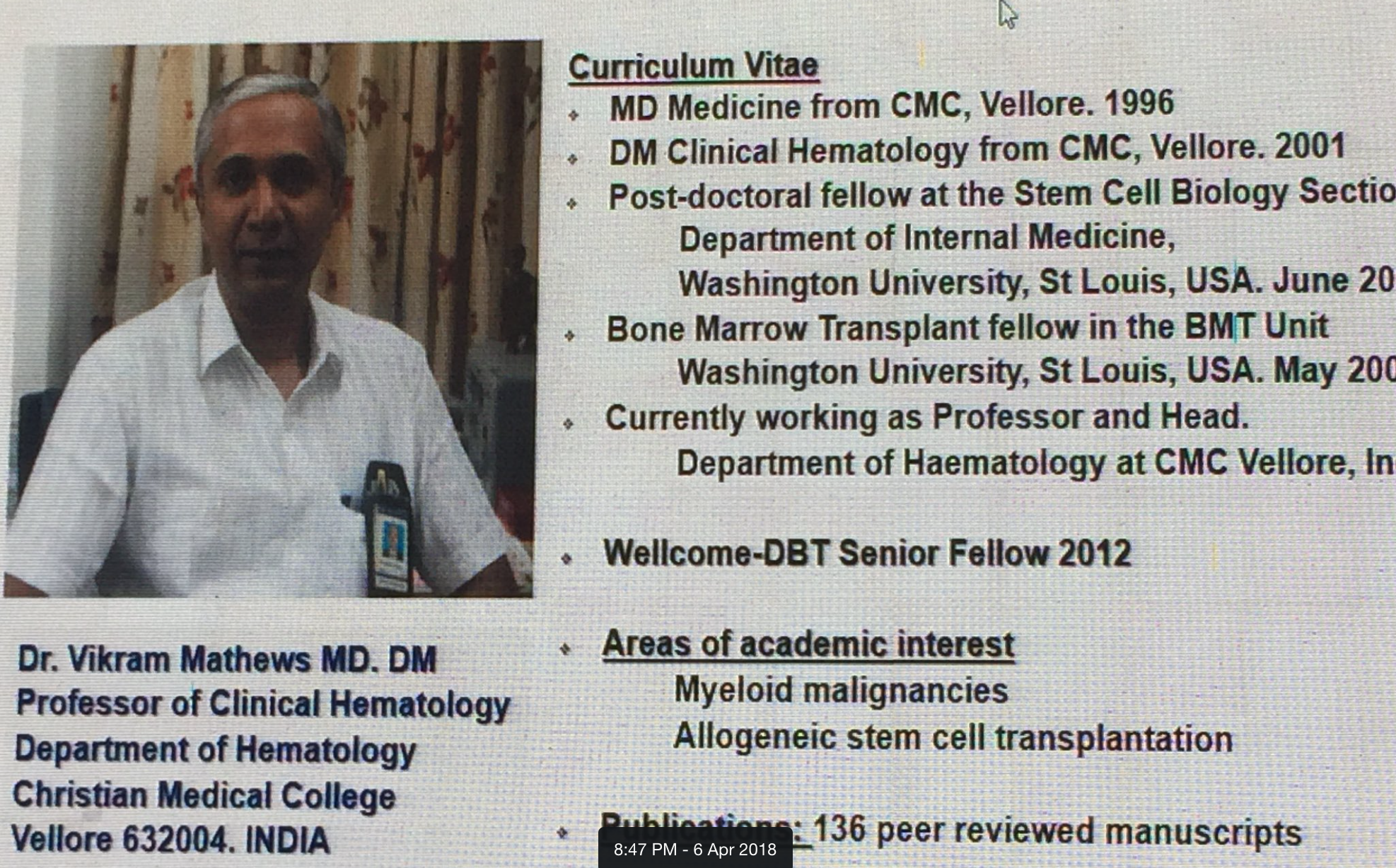 Dr. Vikram One Slide Intro!