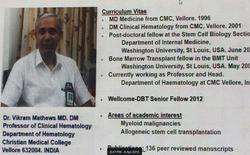 Dr. Vikram One Slide Intro!