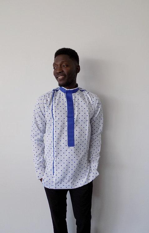 Polka Dot African Print Shirt