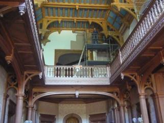 Restauration du plafond de la Villa Lagarde . Dinard