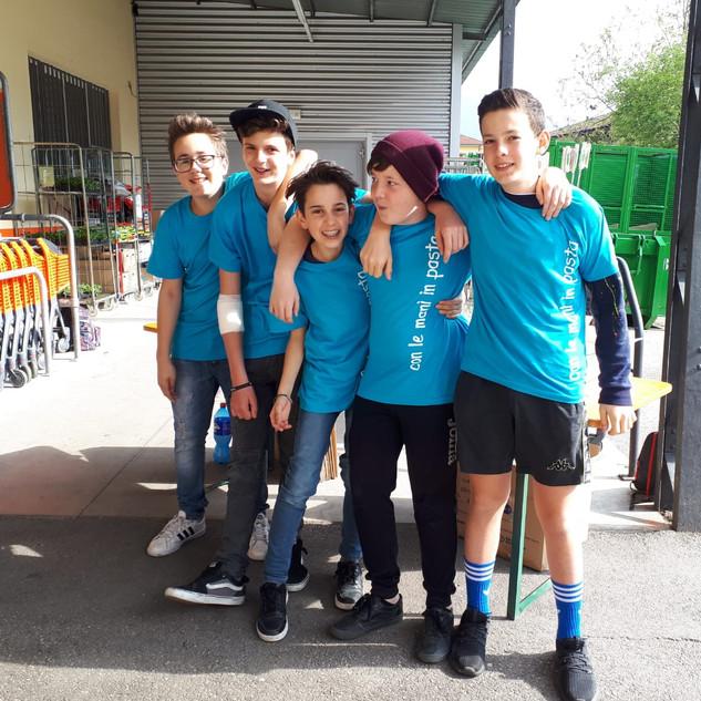 Ismaele, Christian, Enrico, Mattia e Pietro
