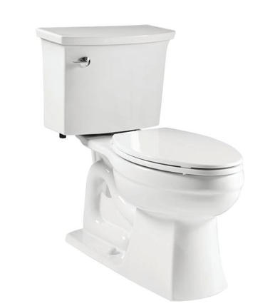 Model #6 Elmbrook The Complete Solution 2-Piece 1.28 GPF Single Flush Elongated Toilet in White with Quiet-Close Seat Included