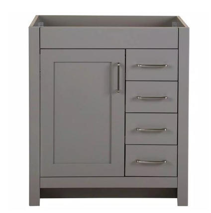 Model #27 Bathroom Vanity Cabinet Only in Sterling Gray
