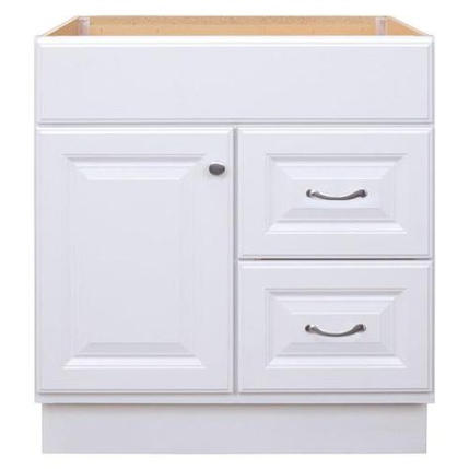 Model #13 30-in White Bathroom Vanity Cabinet