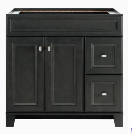 Model #30 Goslin 36-in Storm Bathroom Vanity Cabinet