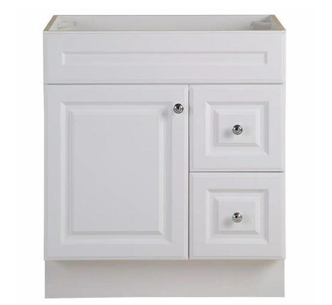 Model #24 Bathroom Vanity Cabinet in White
