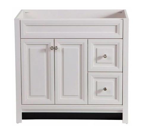 Model #18 Brinkhill 36 in. W x 34 in. H x 22 in. D Bath Vanity Cabinet Only in Cream