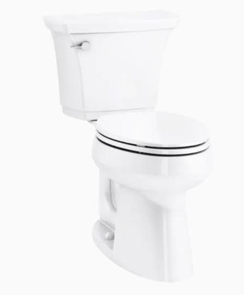 Model #8 KOHLER Highline Curve White WaterSense Elongated Chair Height 2-Piece Toilet 12-in Rough-In Size (ADA Compliant)