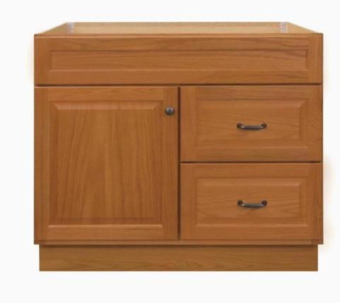 Model #34 - 36-in Golden Bathroom Vanity Cabinet