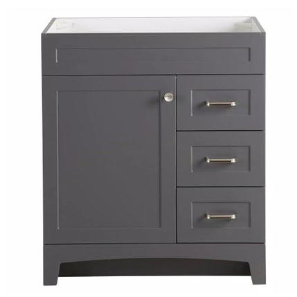 Model #23 Bathroom Vanity Cabinet in Cement