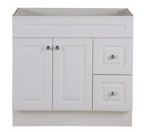 Model #24 - 36 in. W x 22 in. D x 34 in. H Bath Vanity Cabinet in White