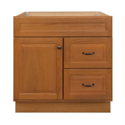 Model #14 30-in Golden Bathroom Vanity Cabinet
