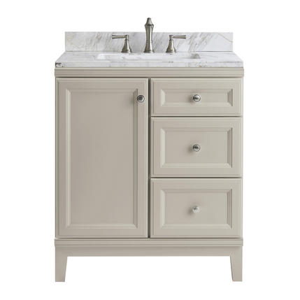 Model #11 Calhoun 30-in Cloud Gray Bathroom Vanity Cabinet