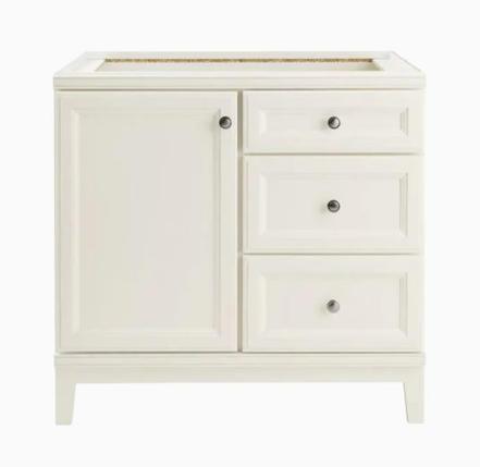 Model #33 Calhoun 36-in White Bathroom Vanity Cabinet
