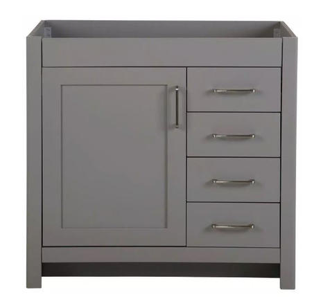Model #17 - 36 in. W x 21 in. D x 34 in. H Bath Vanity Cabinet Only in Sterling Gray