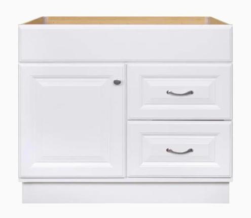 Model #32 36-in White Bathroom Vanity Cabinet