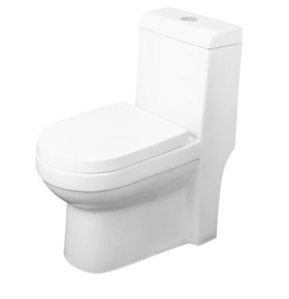 Model #3 ONE PIECE SQUARE TOILET WITH SOFT CLOSING SEAT AND DUAL FLUSH HIGH-EFFICIENCY, PORCELAIN, WHITE FINISH, HEIGHT 30-3/4 INCHES