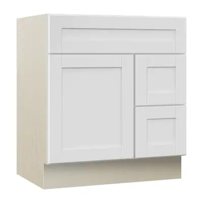 Model #17 Sanabelle 30-in White Bathroom Vanity Cabinet