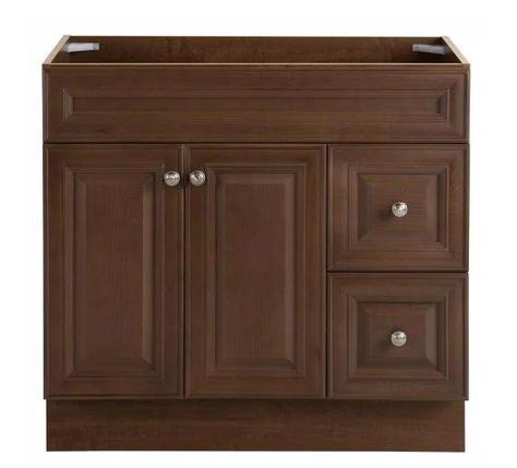 Model #25 Glensford 36 in. W x 22 in. D x 34 in. H Bath Vanity Cabinet in Butterscotch