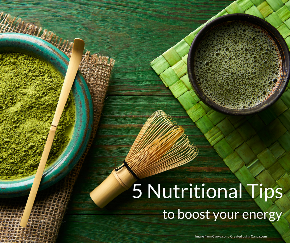 5 nutritional tips to boost your energy