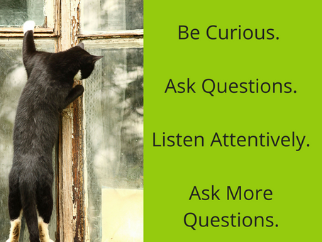 Be Curious.  Ask Questions.  Shift your approach to networking.