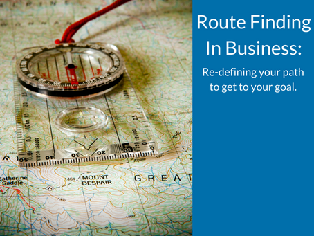 Route finding in business: redefine your path and get to your goal.