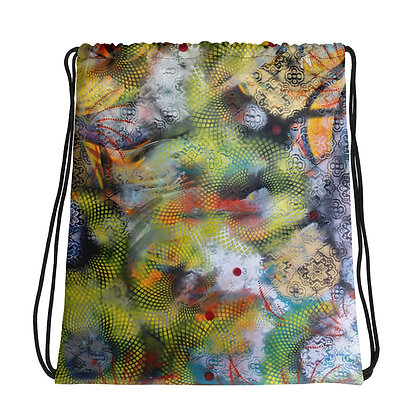 Abstract Art Drawstring bag by Xavier Dalencour