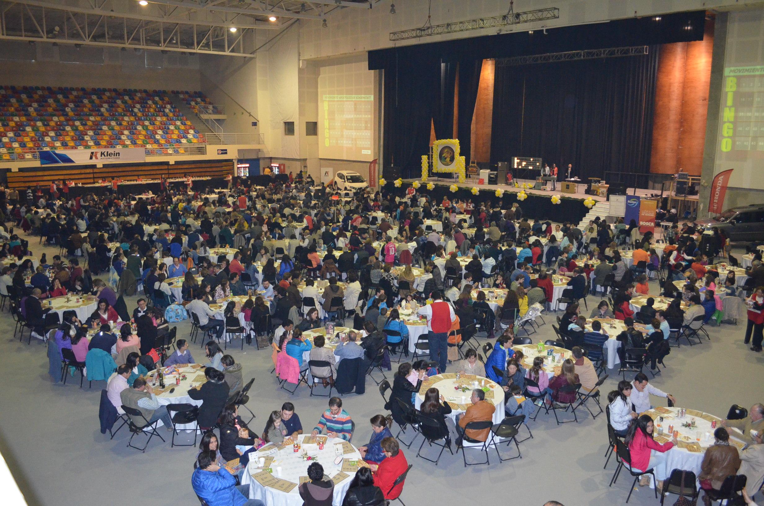 Bingo anual en Arena Puerto Montt