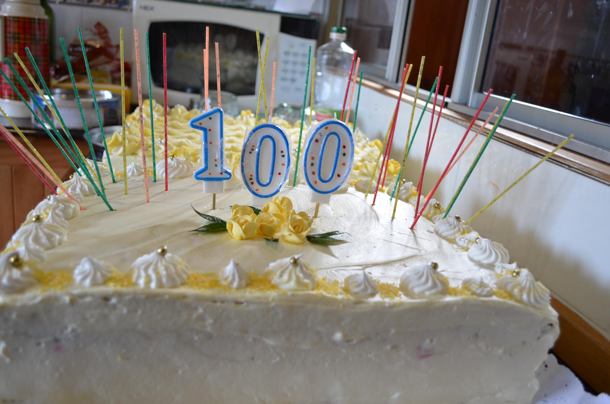 Torta de los 100 años