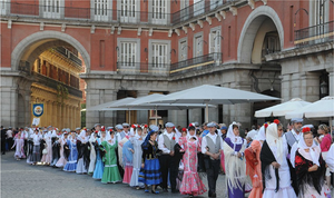 Plaza Mayor in Madrid, 15 Mai, San Isidro