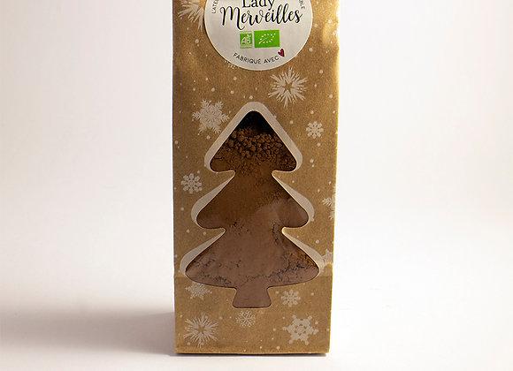 Préparation en poudre pour chocolat chaud aux épices de Noel