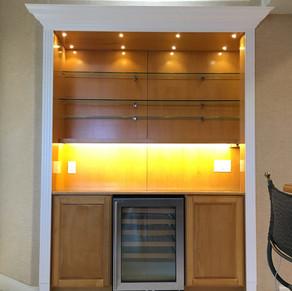 Custom Shelf/Wine Bar Built-in