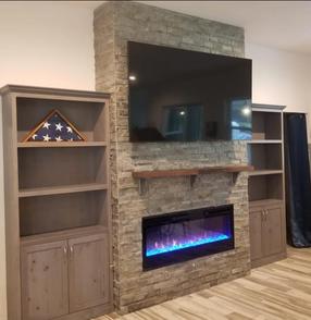 Custom Wall Units - Platinum Pine Finish